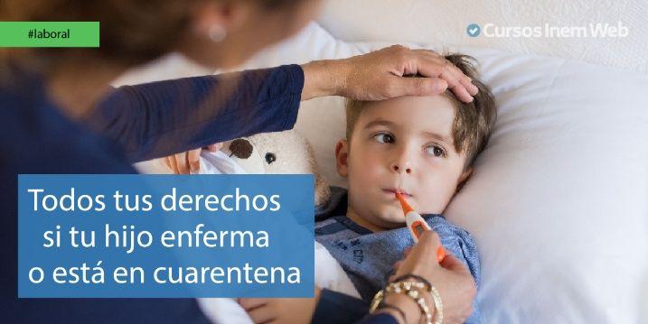 Opciones legales por enfermedad o cuarentena de hijos
