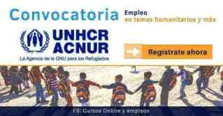 Convocatorias de trabajo ACNUR