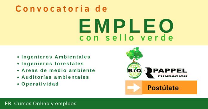 Empleo en áreas de medio ambiente