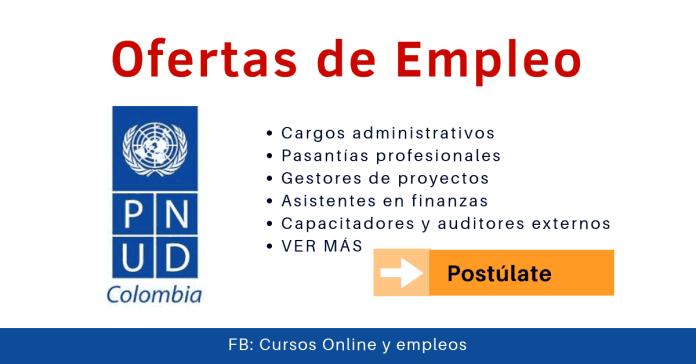 PNUD vacantes en PNUD Colombia