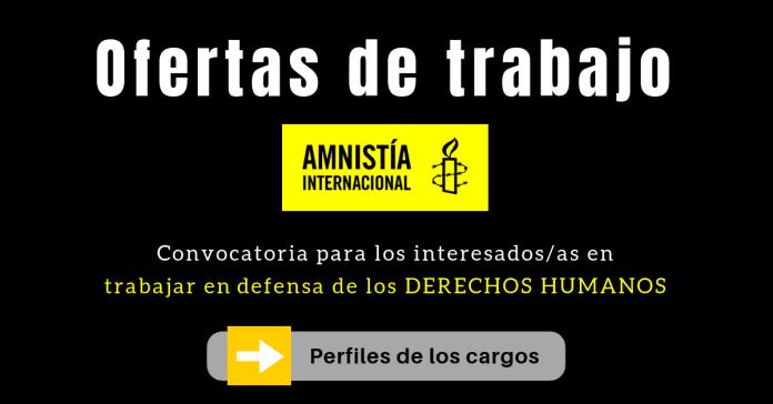 Amnistía Internacional empleo