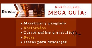 Estudiar derecho - Mega guía con cursos , becas, libros, maestrías