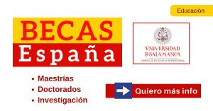 Universidad de Salamanca becas en España