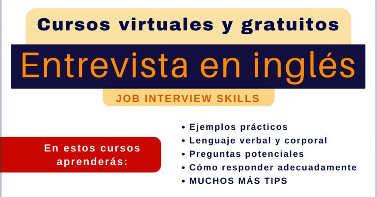Entrevista en ingles cursos online gratis