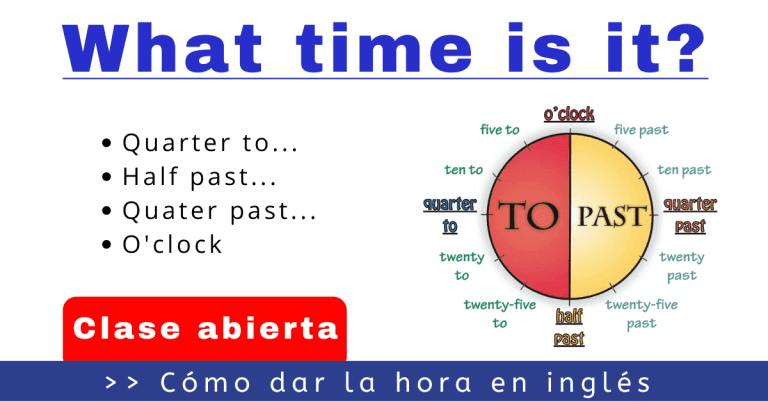 horas en ingles what time is it
