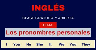 Pronombres personales en ingles gramatica inglesa