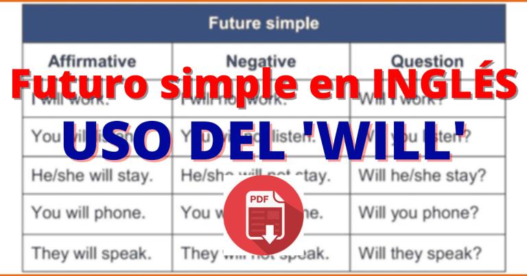 futuro simple en ingles WILL