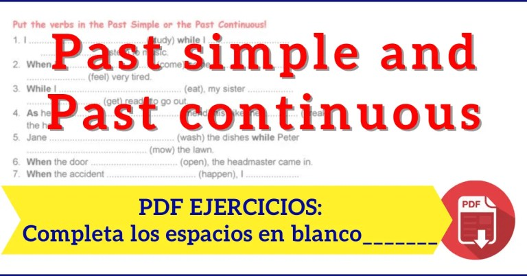 Past simple and past continuous exercises