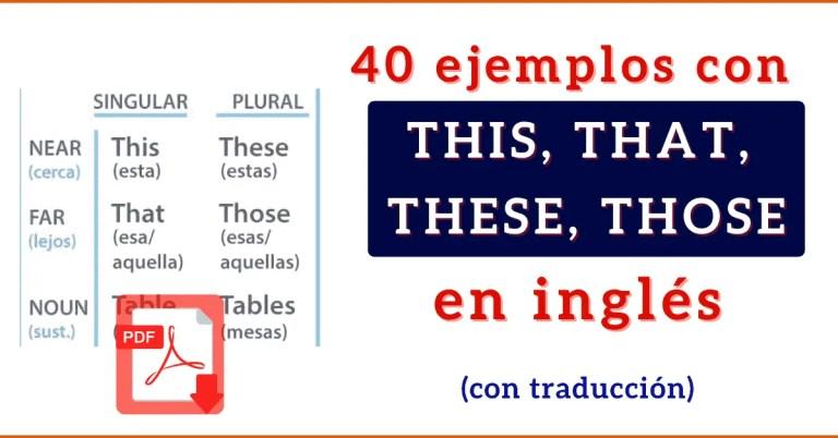 Ejemplos de pronombres demostrativos en ingles