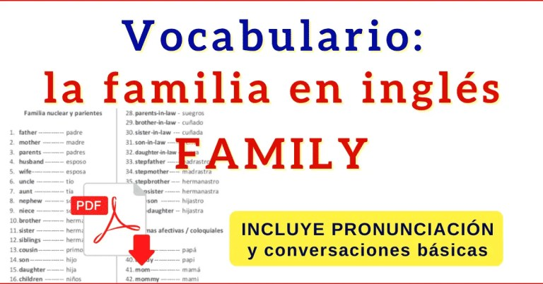 familia en ingles vocabulario