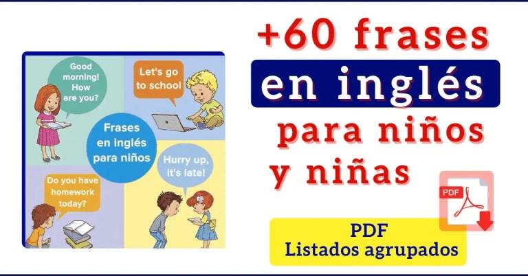 Frases en inglés para niños