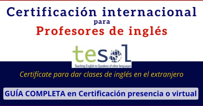 tesol certificacion ingles