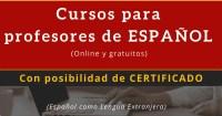 Cursos de profesor de español para extranjeros
