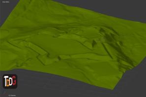 Modelo generado con LiDAR en Blender