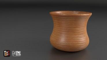 Cacharro 3D renderizado en Blender