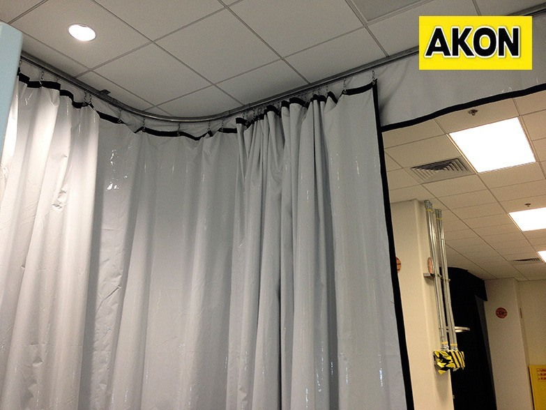 White Industrial Vinyl Curtains