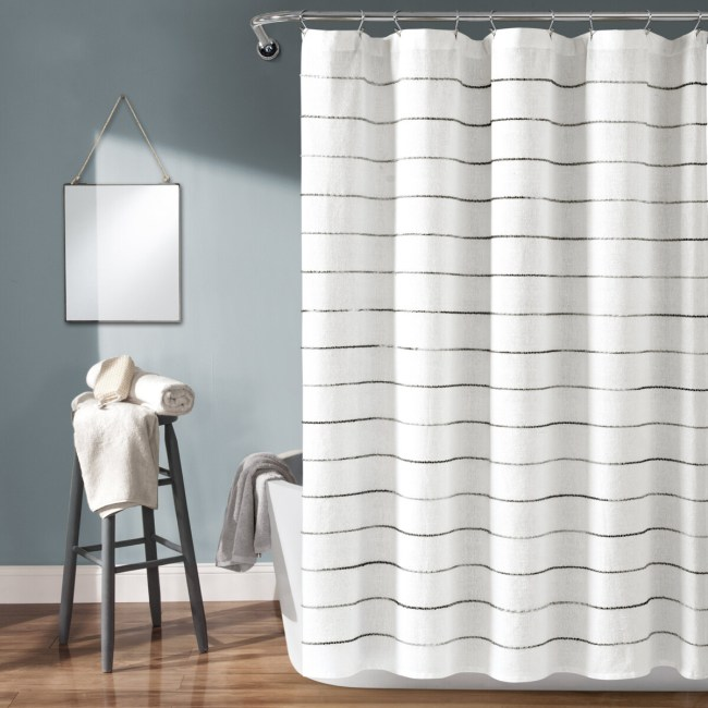 Colorful Shower Curtain, Colorful Striped And Bath Ideas **2021 Shower Curtain