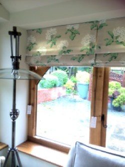 Roman Blinds, sun room windows