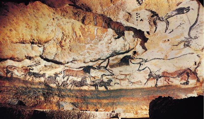 Detaliu din picturile rupestre de la Lascaux