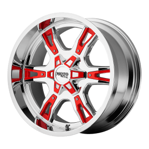 MO969 Chrome With Red And Black Accents