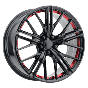 PR194 Gloss Black Red Machined