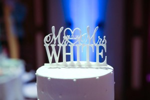 Cake from Mr. and Mrs. White's wedding