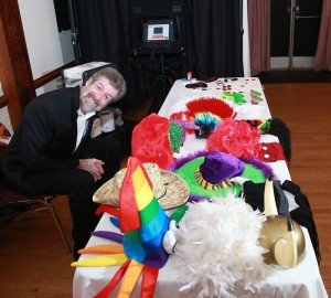 Eamon from Curtis Knight Entertainment at the Photo Booth for the Sweetheart dance