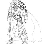Nico's concept sketch for Darius.