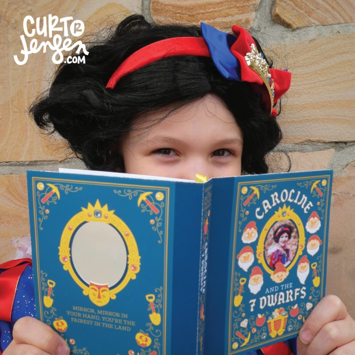 Custom Snow White birthday invitation by Curt R. Jensen