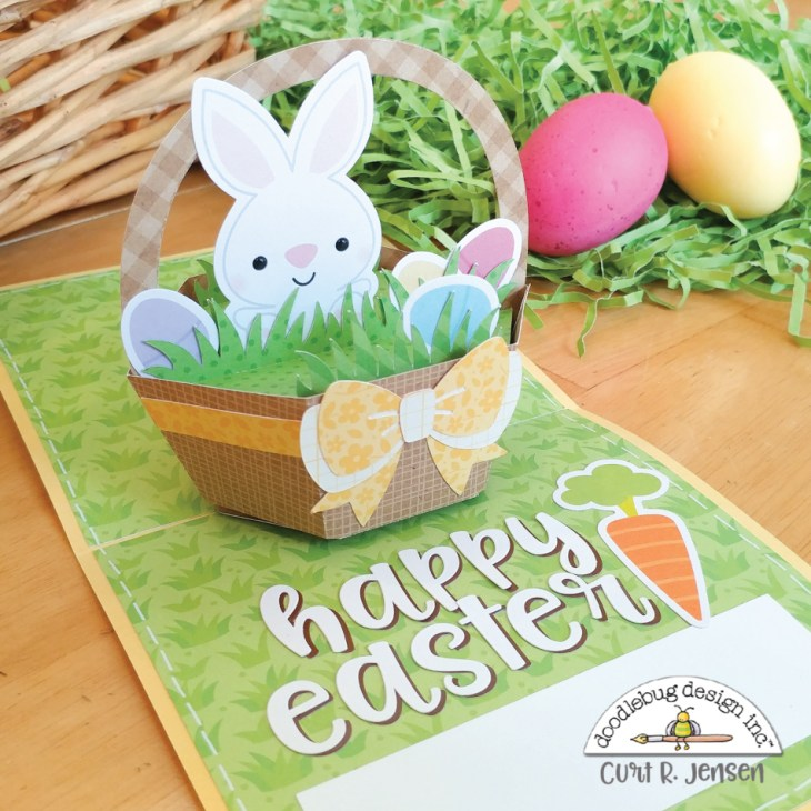 Easter Basket Pop-Up Card by Curt R. Jensen