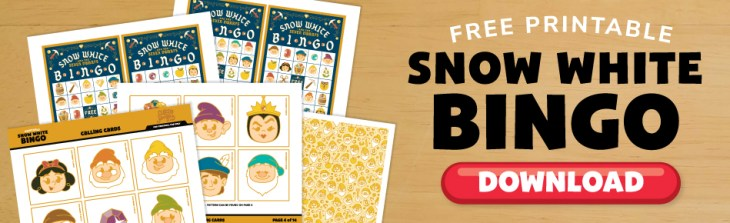 Click here to download your FREE Snow White Bingo Game