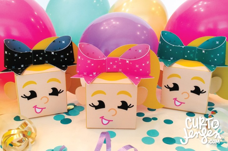 Free JoJo Siwa Favor Box Printable from Curt R. Jensen