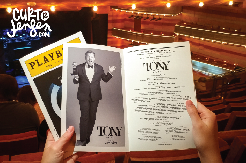 Free printable 2019 Tony Awards Ballot by Curt R. Jensen