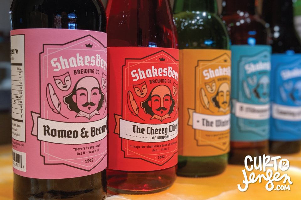 ShakesBeer Label Designs by Curt R. Jensen