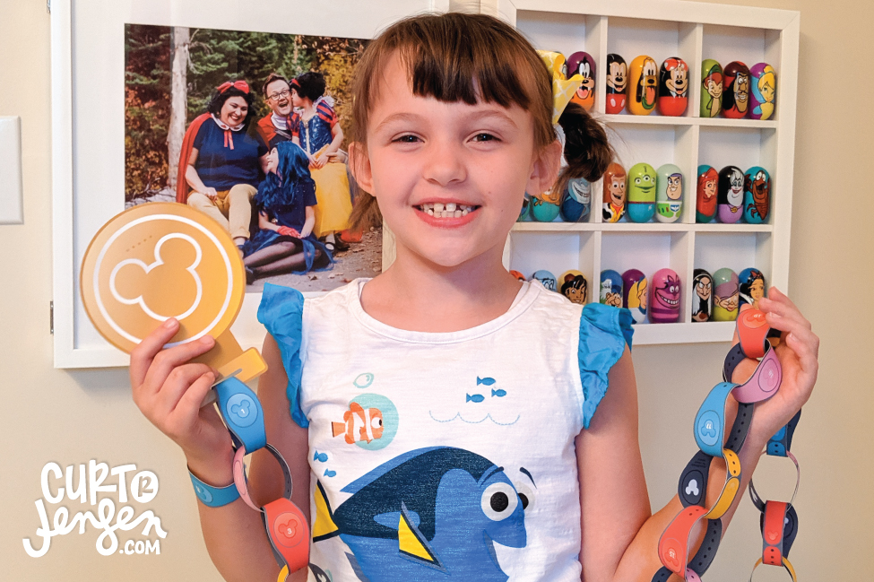 Countdown to your next Walt Disney World Vacation with this FREE printable MagicBand paper chain!