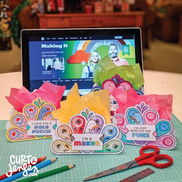 Peacock Favor Box inspired by NBC's craft competition, Making It