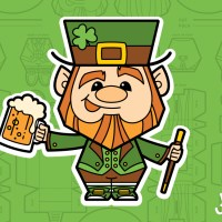 Printable Leprechaun Paper Toy