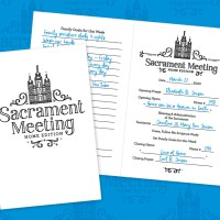 Printable Sacrament Meeting Program