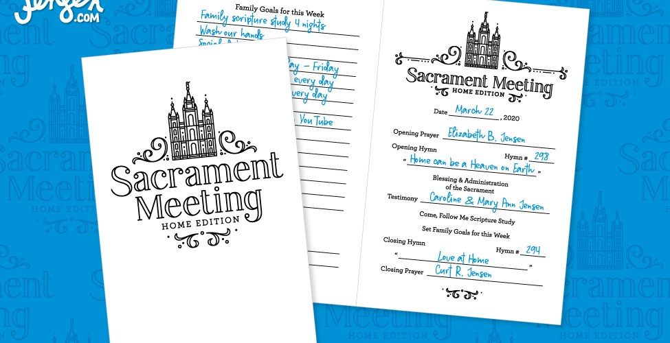 Printable Sacrament Meeting Program from CurtRJensen.com