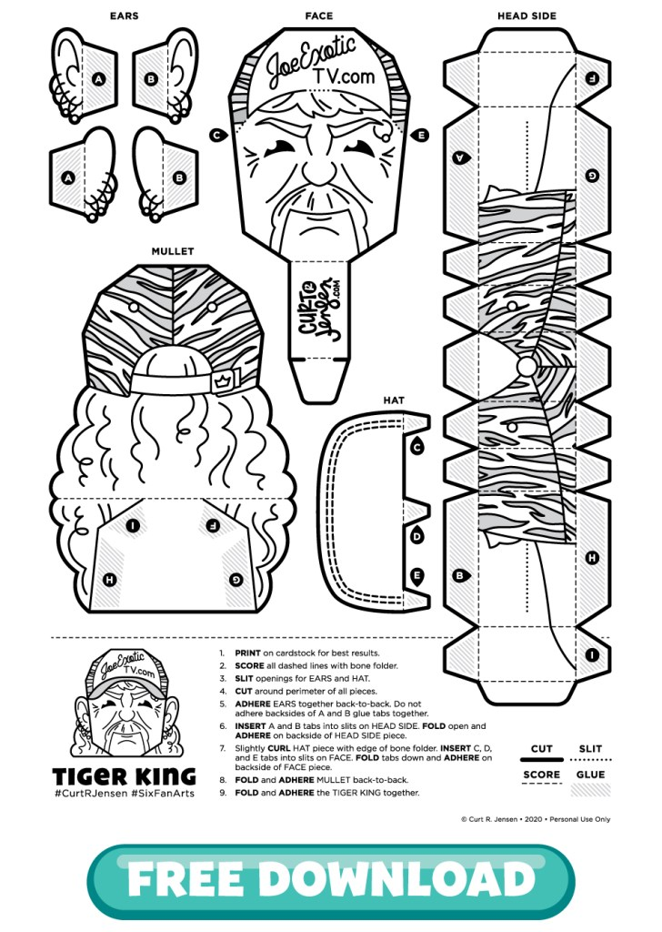 Free Printable Tiger King from CurtRJensen.com