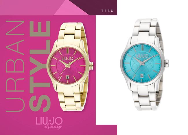 liu jo tess gold fuchsia 7 - New in | Liu Jo horloge