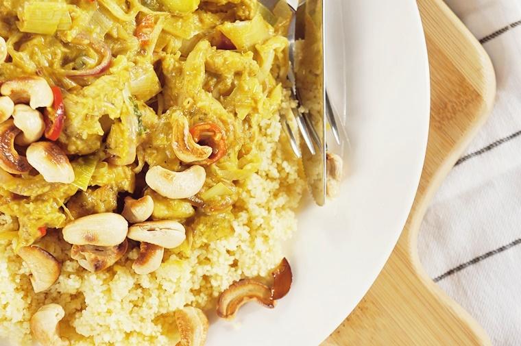 croma roerbak oliemelange 2 - Groene curry recept met Croma roerbak oliemelange