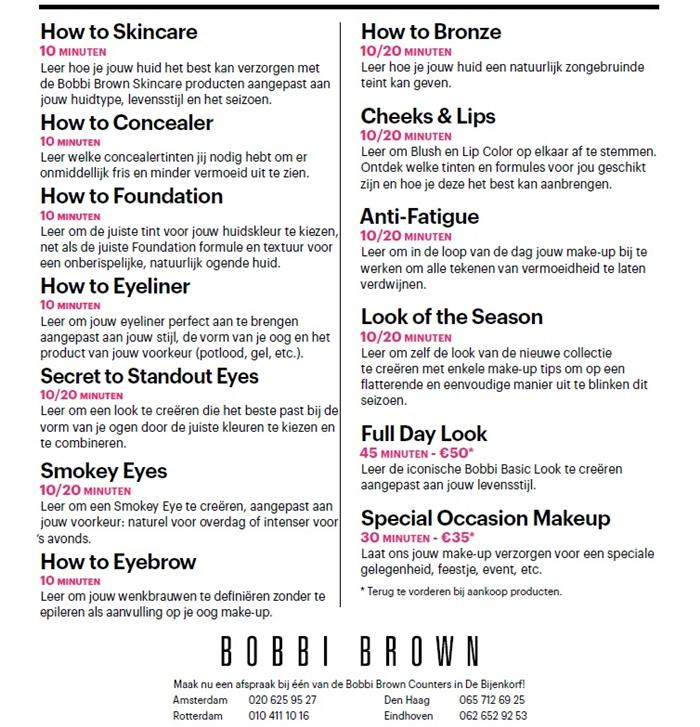 Bobbi brown make up les 2 - Tip!   Gratis Bobbi Brown make-up & skincare les