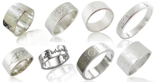 geefeenpersoonlijkcadeau 2 - Cadeautip | Gepersonaliseerde ring met vingerafdruk of tekst