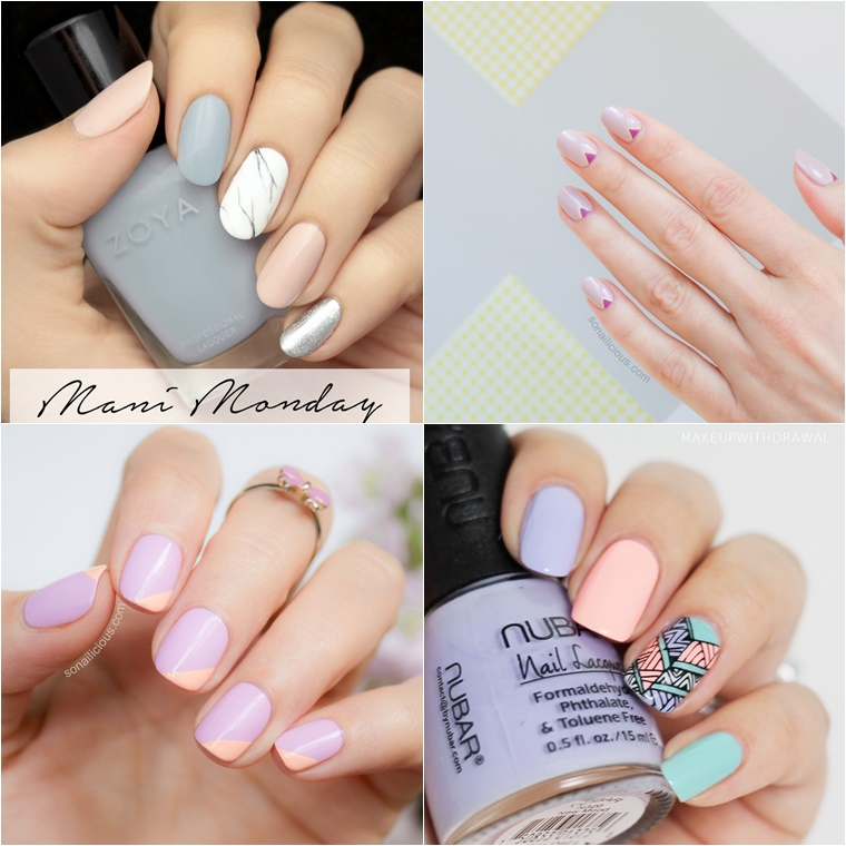 pastel nail art 1 - OPI Soft Shades Pastels & pastel nail art inspiratie