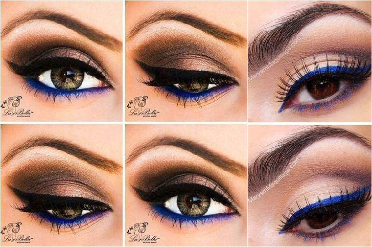 gekleurde eyeliner