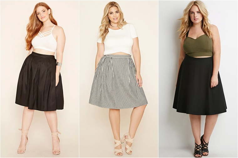 plussize midi skirts 4 - Plussize fashion | De midi skirt