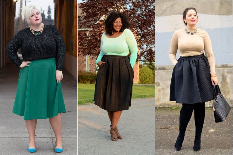 plussize midi skirts 5 - Plussize fashion | De midi skirt