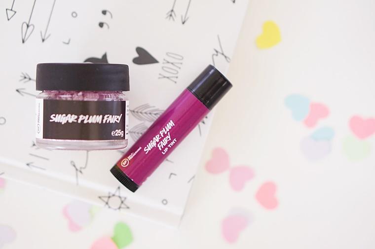 lush sugar plum fairy 1 - Lush Sugar Plum Fairy lip scrub & lip tint
