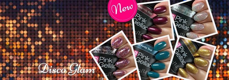 pink gellac disco glam
